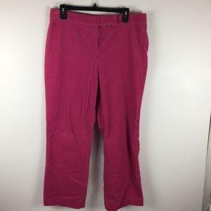 Lilly Pulitzer Pink Wide Leg Corduroy Pants Sz 12